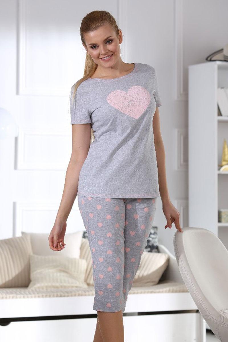 Женская пижама Hearts grey