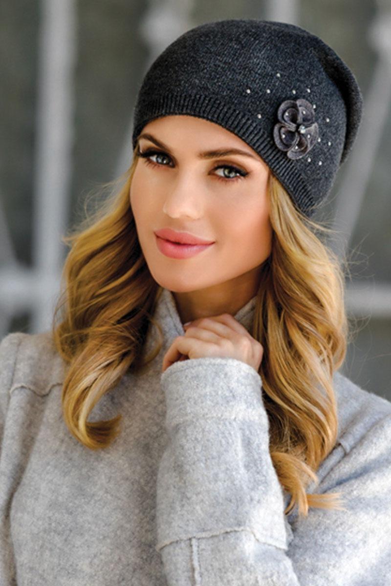 Женская шапочка Alicja Grafit от Eterno