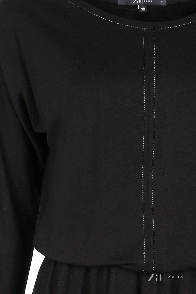 Женское романтическое трикотажное платье Altea Black Zaps
