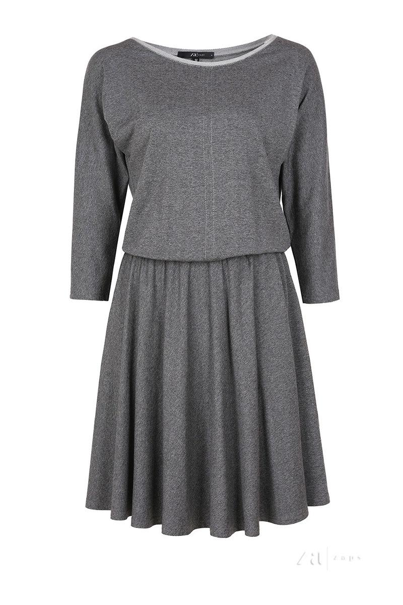 Элегантное женское трикотажное платье Altea Grey Zaps