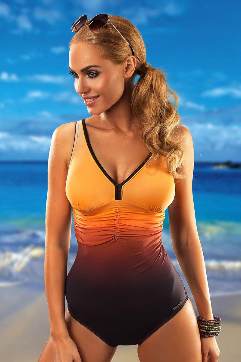 Женский цельный купальник Belize Orange от Aquarilla