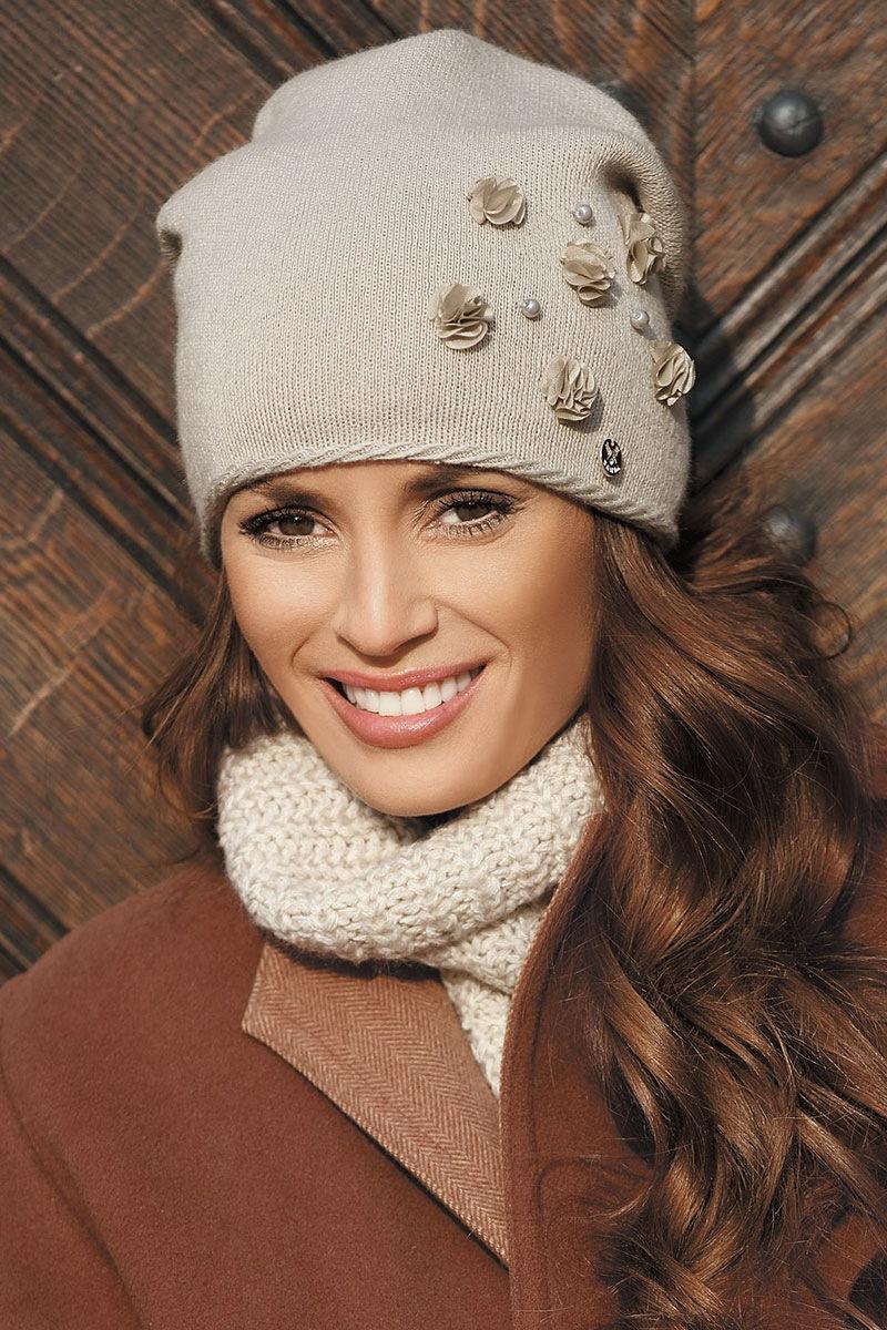 Женская шапка Clarisa Beige от Kamea