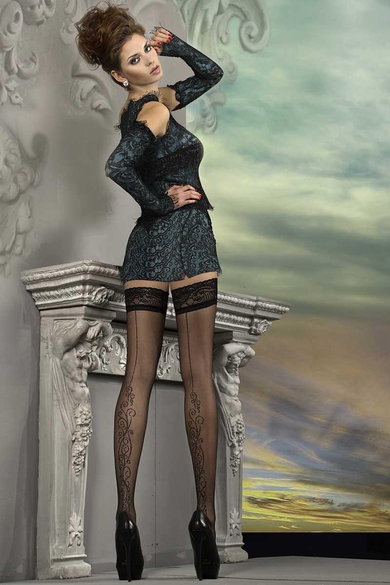 Роскошные самодержащиеся чулки J.Collection 215 Ballerina