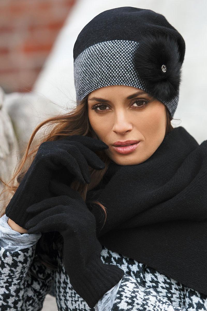 Женская шапка Elena Black от Kamea
