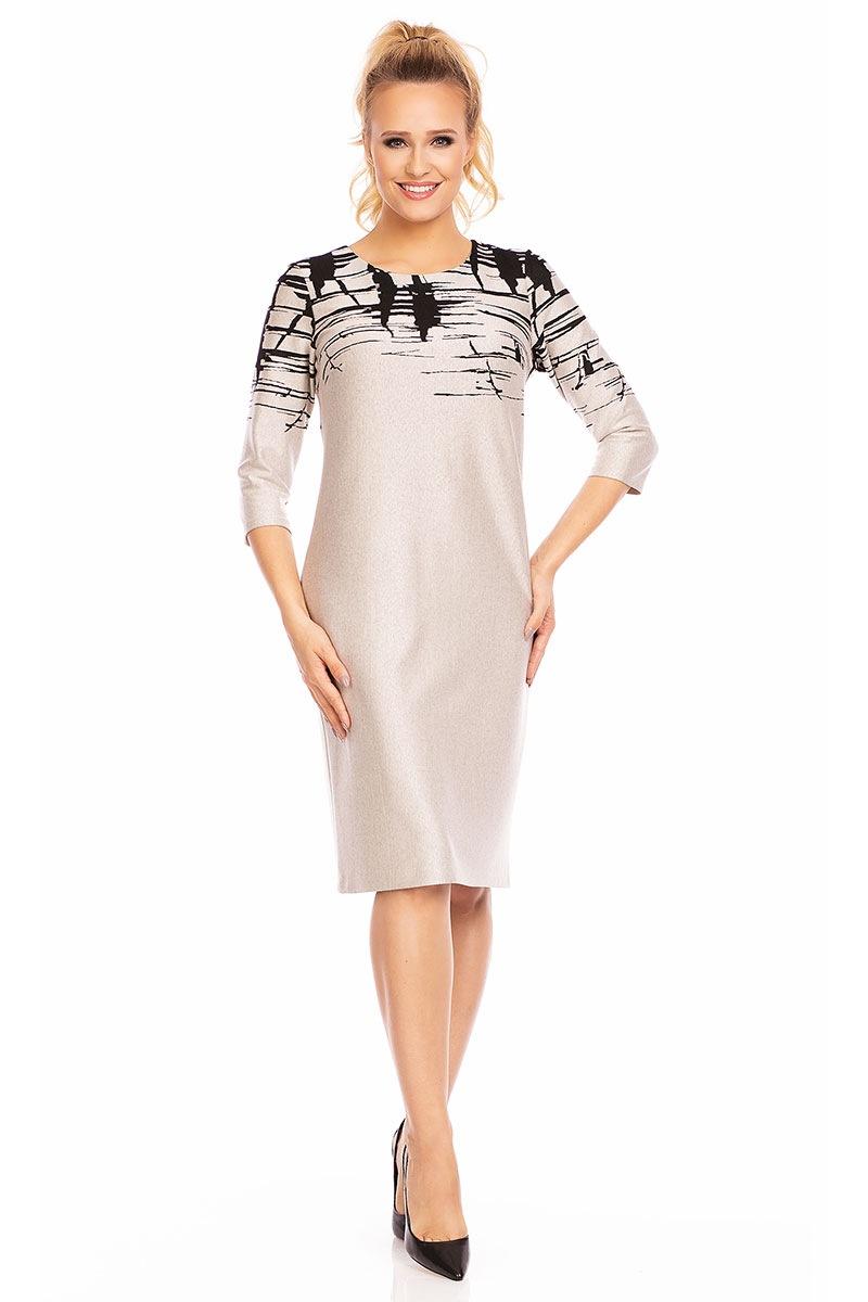 Женское платье Livia Beige с узором Lental