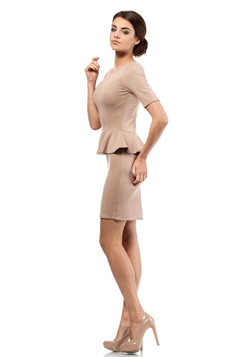 Женское платье с баской Moe014 Moe