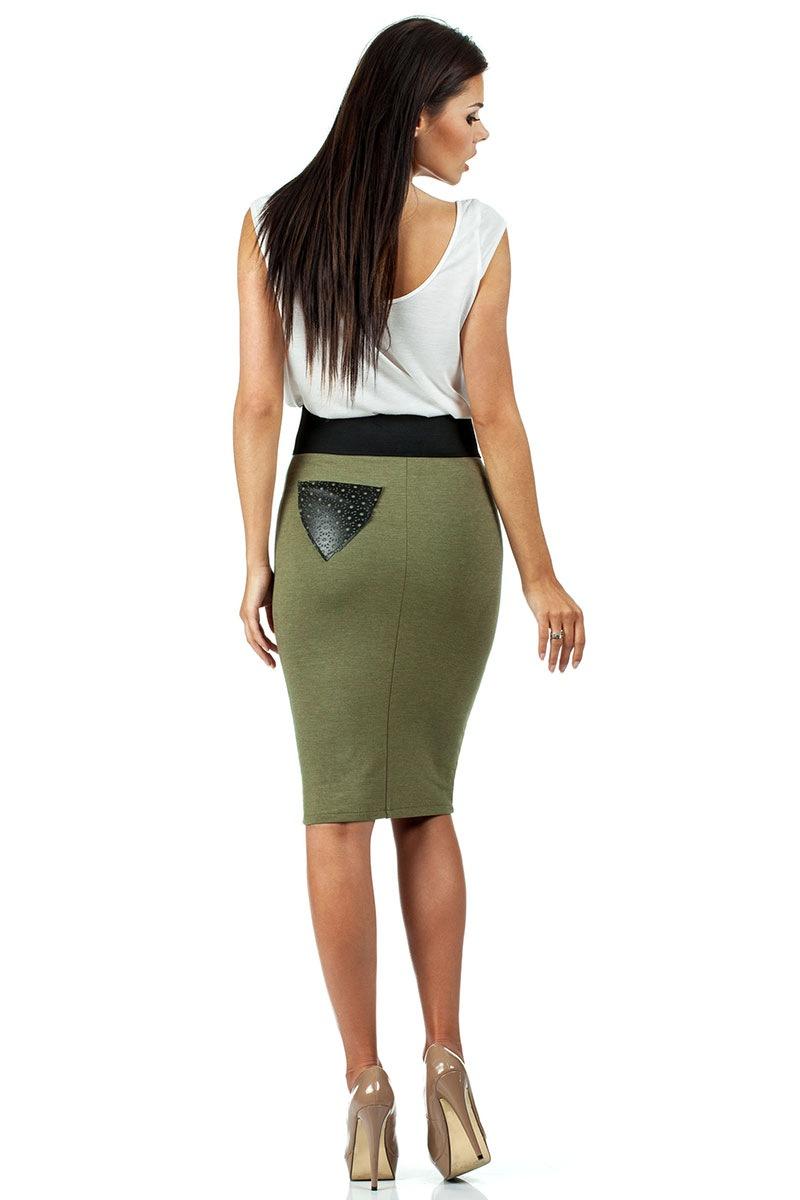 Женская юбка с высоким поясом Moe062 Moe