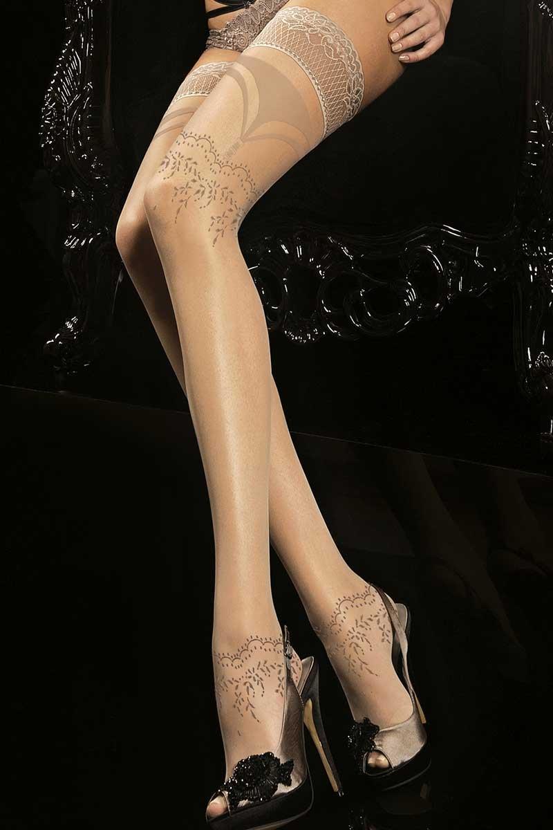 Роскошные самодержащиеся чулки Noir Touch 170 Ballerina