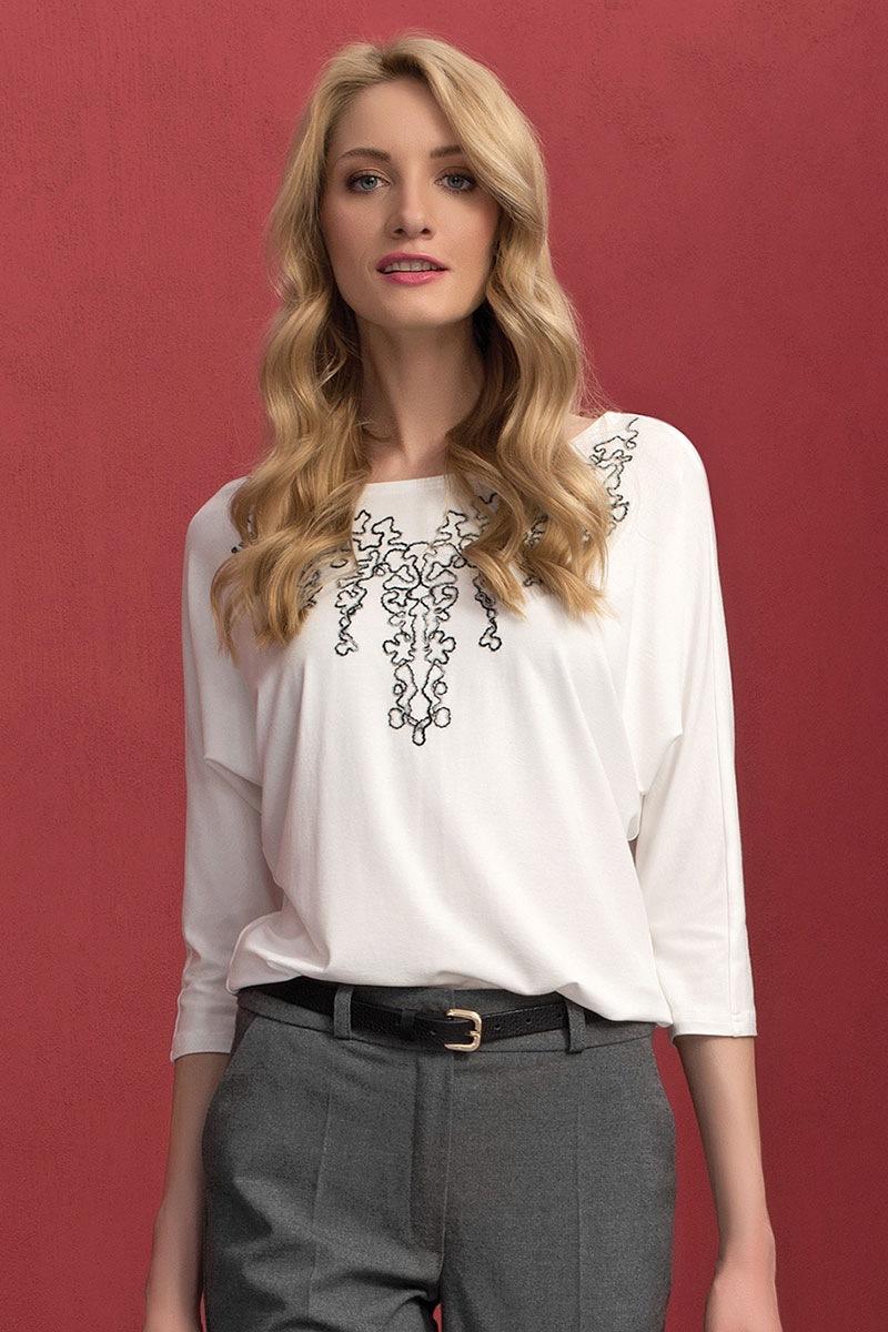 Женская блуза с вышивкой Sarina White Zaps
