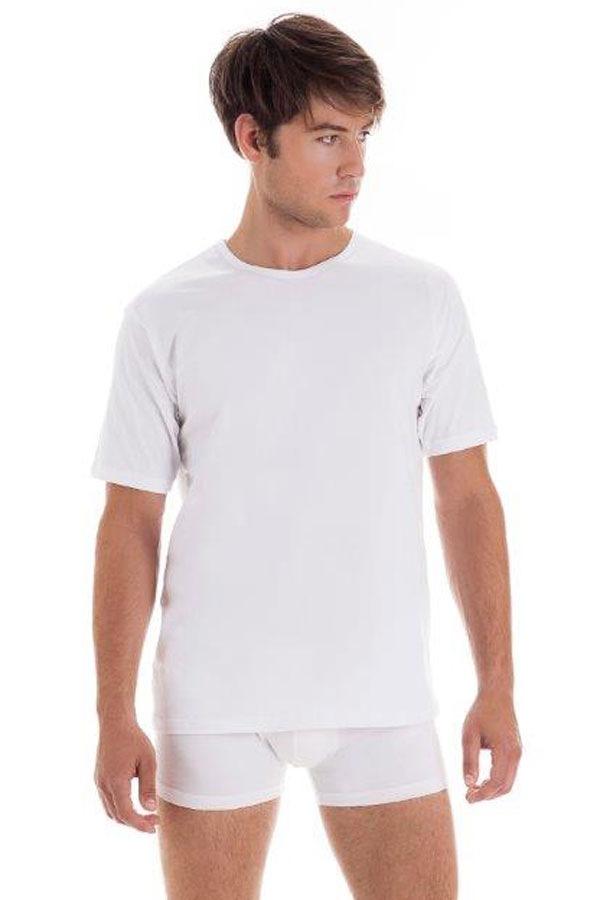 Мужская хлопковая футболка с коротким рукавом White от Cornette