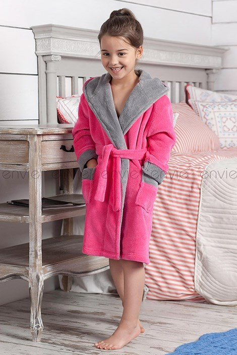 Детский халат Delfino розовый