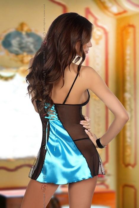 Роскошный комплект сорочки и трусиков Michele Turquoise