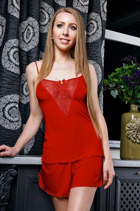 Элегантная пижама Venice Red