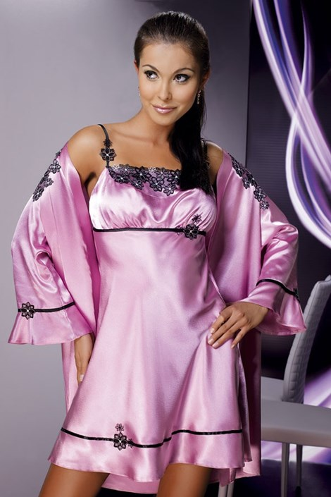 Атласная сорочка Mirabelle Pink