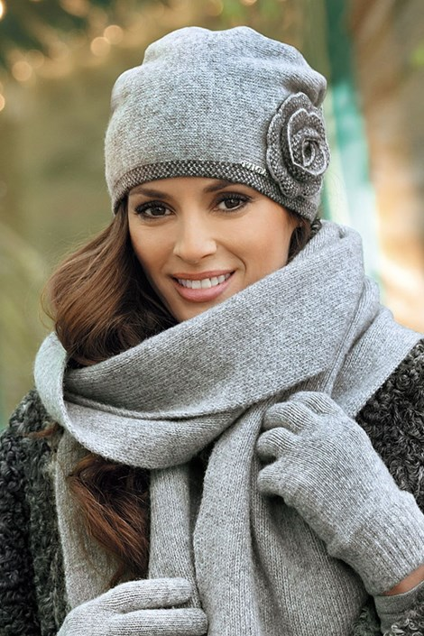 Женская шапка Pepita Grey