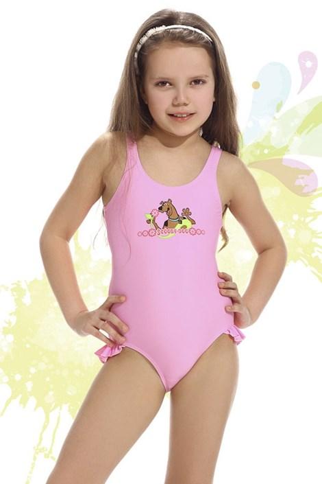 Купальник для девочек Smiling розовый
