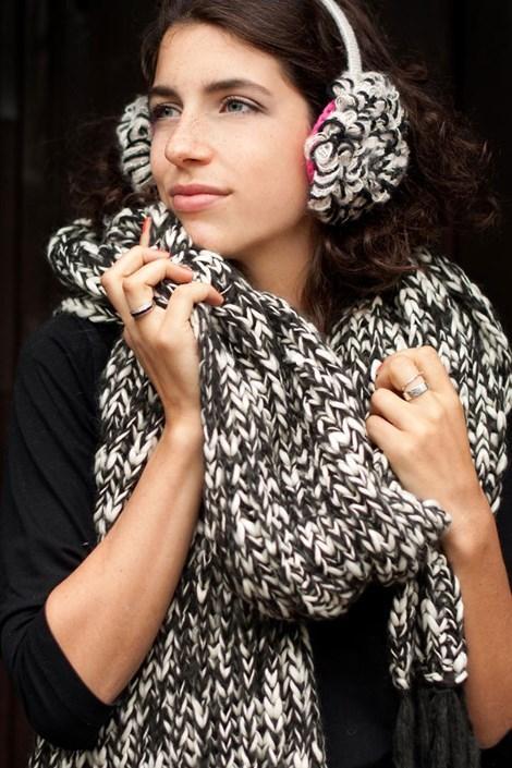 Вязанный шарф Laura