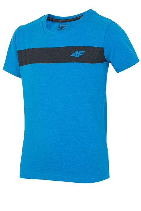 Детская хлопковая футболка Blue 4f