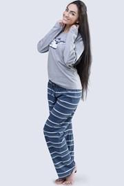 Женская хлопковая пижама Penguin серая