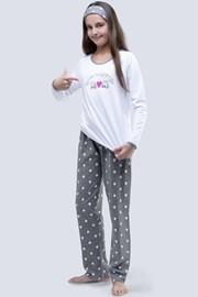 Пижама для девочек Meow белая