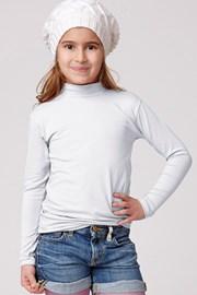 Детская хлопковая футболка с горловиной Jadea