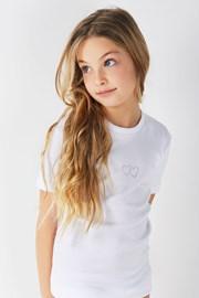 Хлопковая футболка для девочек Lea