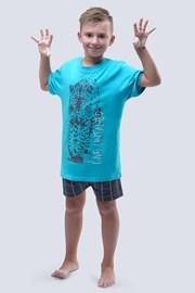 Пижама для мальчиков Live Untamed бирюзовая