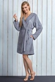 Женский халат Alba Grey из бамбукового волокна