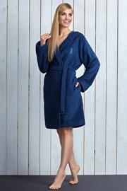 Женский халат Alba Navy из бамбукового волокна