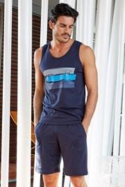 Мужской хлопковый комплект Giorgio синий