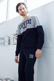 Мужской хлопковый комплект Valerio синий