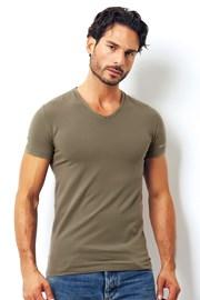 Мужская итальянская футболка Enrico Coveri 1501 Salvia
