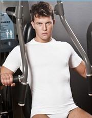 Бесшовная мужская футболка - круглый вырез горловины