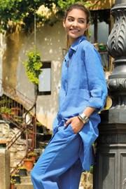 Женское льняное платье Sherie Blue