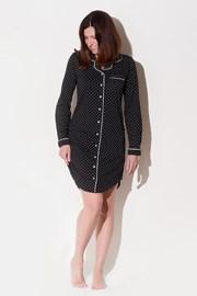 Женская итальянская ночная сорочка Hearts Black