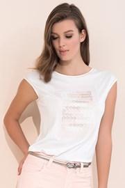 Женская элегантная футболка с короткими рукавами