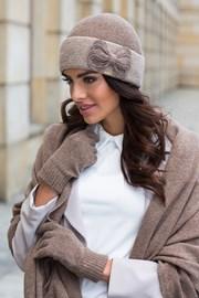 Женская элегантная шапка Scarlet бежевая