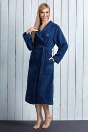 Женский халат Tracy Navy из бамбукового волокна