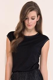 Женская элегантная футболка Vivian Black