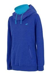 Женская спортивная толстовка с горловиной синяя