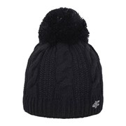 Женская вязанная шапка 4f Black