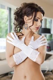 Перчатки Nora белые